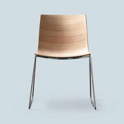 Arper Catifa 46 Side Chair with Wood Seat