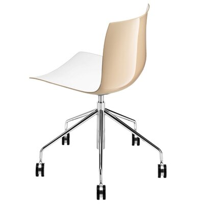 Arper Catifa 53 Polypropylene Two-Tone 5-WayTask Chair with Gas Lift on Castors