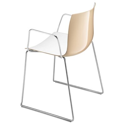 Arper Catifa 53 Polypropylene Two-Tone Armchair with Sled Base