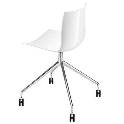 Arper Catifa 46 Polypropylene Chair with 4-Way Swivel Trestle Base on Castors
