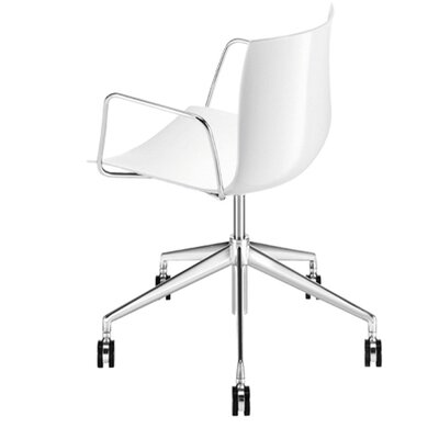 Arper Catifa 53 Polypropylene 5-Way Task Armchair with Gas Lift on Castors