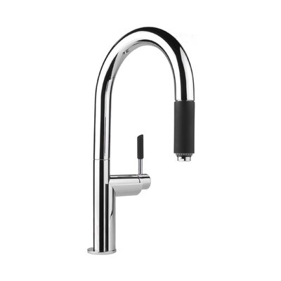 Oscar Single Handle Single Hole Kitchen Faucet with Pull Down Spray