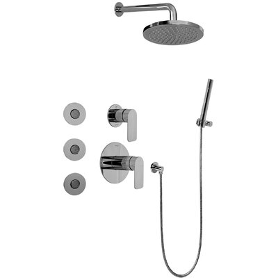Graff Sento Full Thermostatic Shower System with Transfer Valve