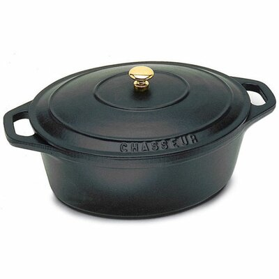 Paderno World Cuisine Cast Iron Oval Dutch Oven