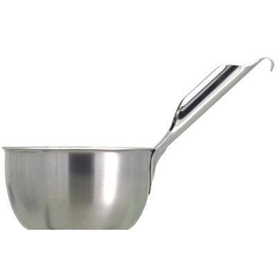 Paderno World Cuisine Scooping Bowl with Slanted Handle in Stainless Steel