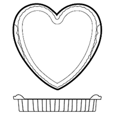 Paderno World Cuisine Non-Stick Silicone Heart Mold