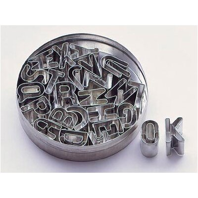 Paderno World Cuisine Tin Alphabet Dough Cutter