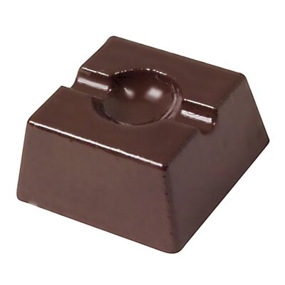 Paderno World Cuisine 1&quot; Indented Square Chocolate Mold