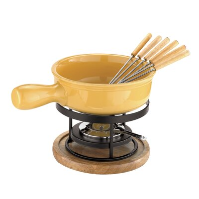 Cheese Fondue Set in Yellow