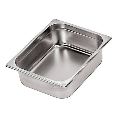 Paderno World Cuisine Stainless Steel Hotel Pan - 1/2 in Silver