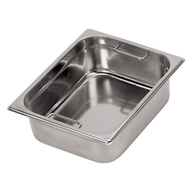 Paderno World Cuisine Hotel Pan with Internal Handles - 1/3 in Silver