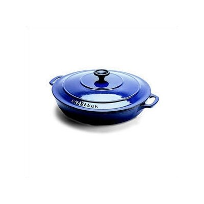 Paderno World Cuisine Stainless Steel 3-qt. Cast Iron Round Dutch Oven