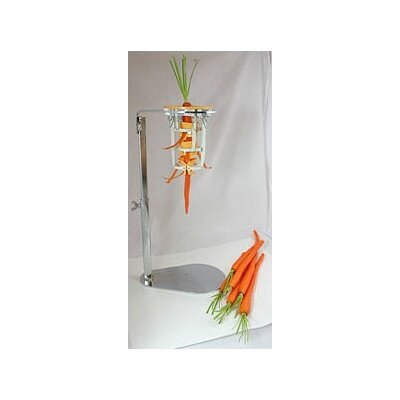 Paderno World Cuisine Chrome Steel Upright Carrot Peeler with Optional Stand