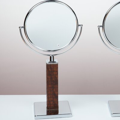 Bissonnet Kosmetic Victoria Patent Croco Makeup Mirror