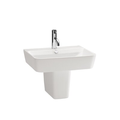 Bissonnet Emma Semi Pedestal Ceramic Bathroom Sink