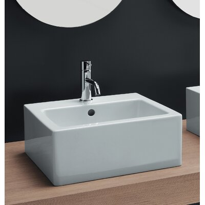 ... Area Boutique Ice Medium Square Ceramic Bathroom Sink - 20130