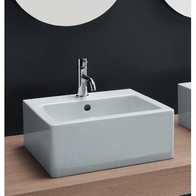 Square Bathroom Sinks : ... Area Boutique Ice Medium Square Ceramic Bathroom Sink - 20130