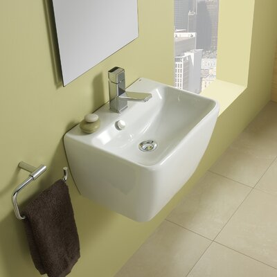 Emma 45 Porcelain Vessel Bathroom Sink with Overflow - 27075