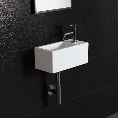 Area Boutique Ice 20 Porcelain Bathroom Sink with Overflow - 20100