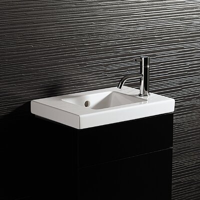 Bissonnet Area Boutique Logic 45 Ceramic Bathroom Sink