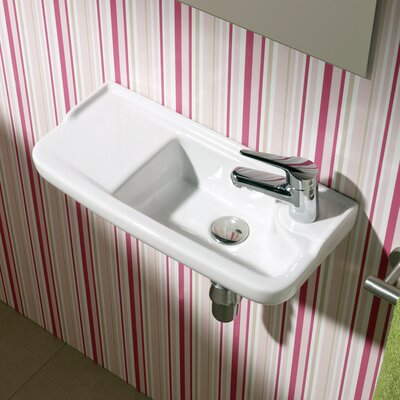 Bissonnet Universal Oxigen Wall Hung Ceramic Bathroom Sink