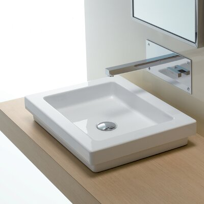 Bissonnet Area Boutique Logic 50 Ceramic Bathroom Sink