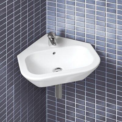 ... English Turn Wall Mount Corner Bathroom Sink & Reviews Wayfair