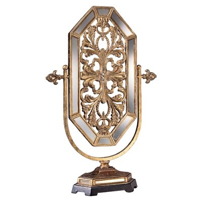 Minka Ambience Jessica McClintock Romance Accent Mirror in Tuscan Gold with Mirror Accents