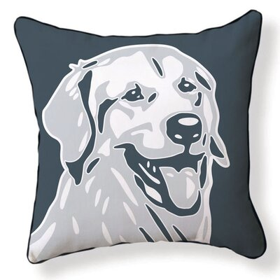 Naked Decor Golden Retriever Double Sided Cotton Pillow