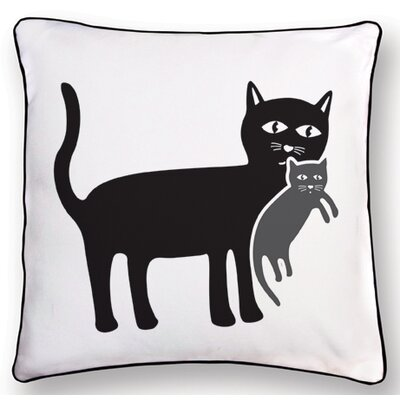 Naked Decor Animal Instinct Cat and Kitten Reversible Pillow