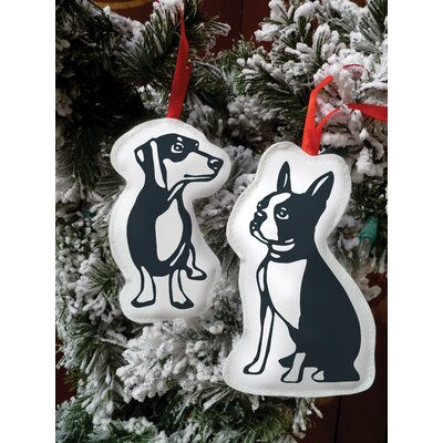 Naked Decor Hello Boston Terrier Cut Out Ornament