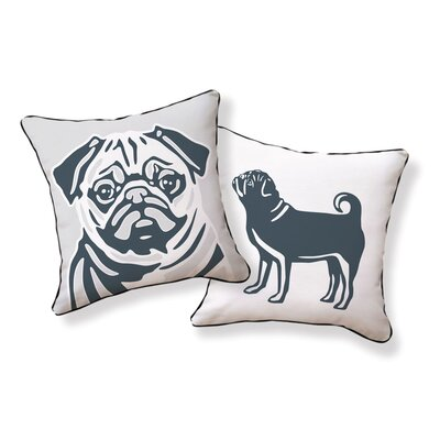 Naked Decor Pug Pillow