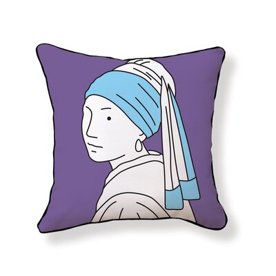 Naked Decor Girl with Pearl Earring Double Sided Cotton Pillow
