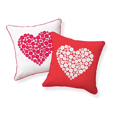 Naked Decor Love Button Pillow