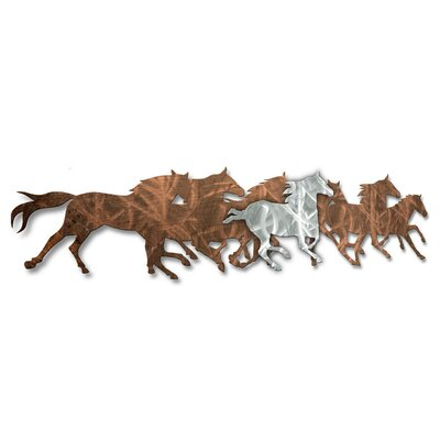 All My Walls Wild Horses Metal Wall Sculpture & Reviews | Wayfair