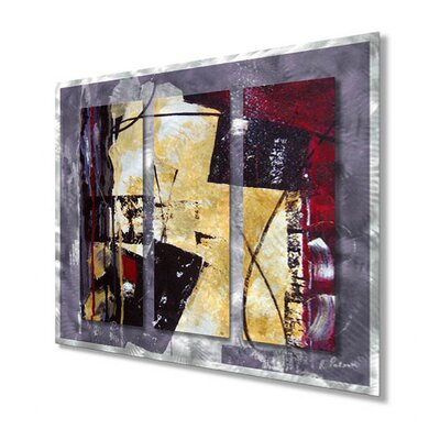 "All My Walls Merlot Movement by Ruth Palmer, Abstract Wall Art - 29"" x 31.5"""