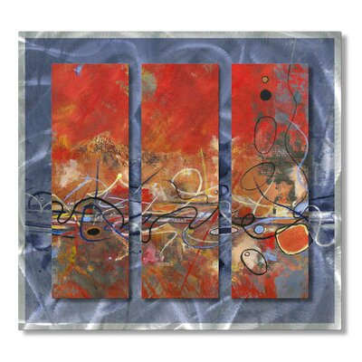 "All My Walls Rhythm by Ruth Palmer, Abstract Wall Art - 29"" x 31.5"""