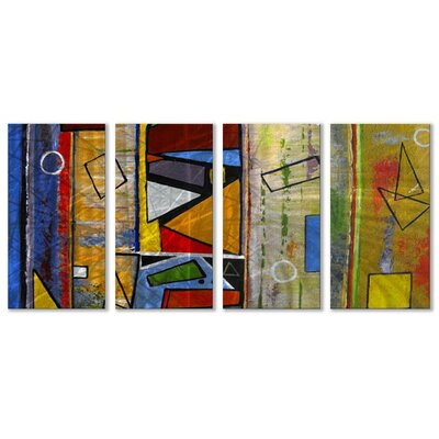 "All My Walls Abstract by Ruth Palmer, Contemporary Wall Art - 23.5"" x 48"""