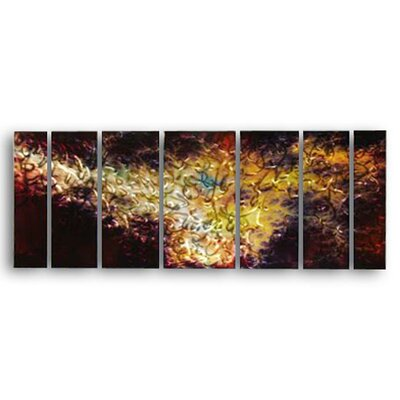 "All My Walls Abstract by Ash Carl Holographic Metal Wall Art in Black - 23.5"" x 60"""