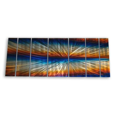 "All My Walls Abstract by Ash Carl 3 Dimensional Metal Wall Art in Multi - 23.5"" x 60"""