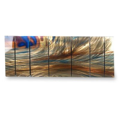 "All My Walls Abstract by Ash Carl Metal Wall Art in Brown - 23.5"" x 60"""