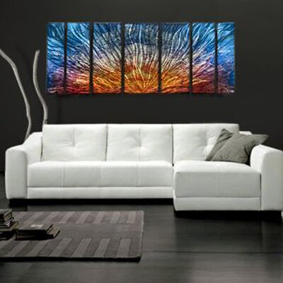 "All My Walls Abstract by Ash Carl Metal Wall Art in Multi - 23.5"" x 60"""