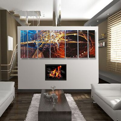 Abstract by Ash Carl Metal Wall Art in Dark Multi - 23.5