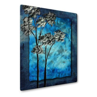 All My Walls Towering Trees In Blue Sky Metal Wall Sculpture