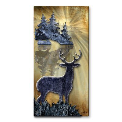 Buck By The Lake Metal Wall Hanging