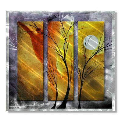 'Golden Surprise' by Megan Duncanson Original Painting on Metal Plaque
