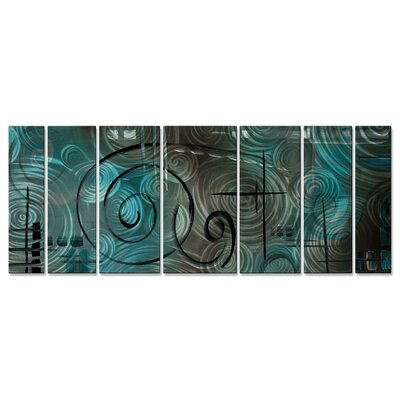Aqua Mist Wall Sculpture