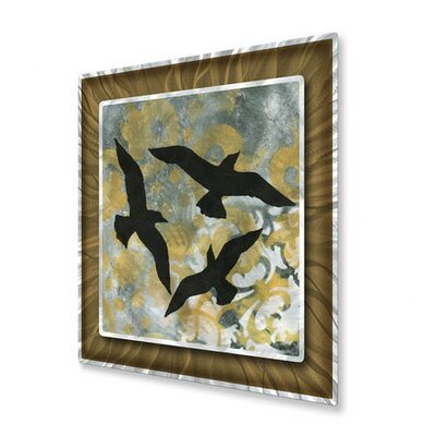 All My Walls Natures Whimsy III Metal Wall Hanging