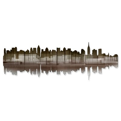 New York City Reflection IV Metal Wall Sculpture