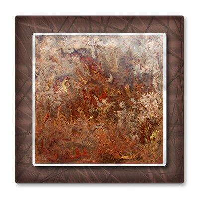 All My Walls Marbleized Copper Metal Wall Art